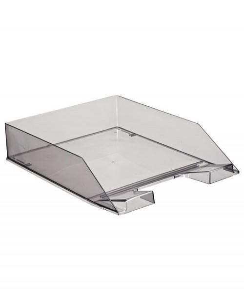 Лоток горизонтальный Каскад  тонированный серый, сочный офис