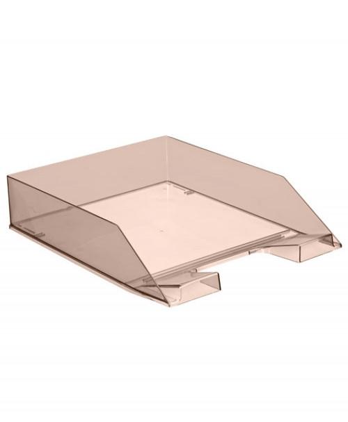 Лоток горизонтальный Каскад  тонированный коричневый, сочный офис
