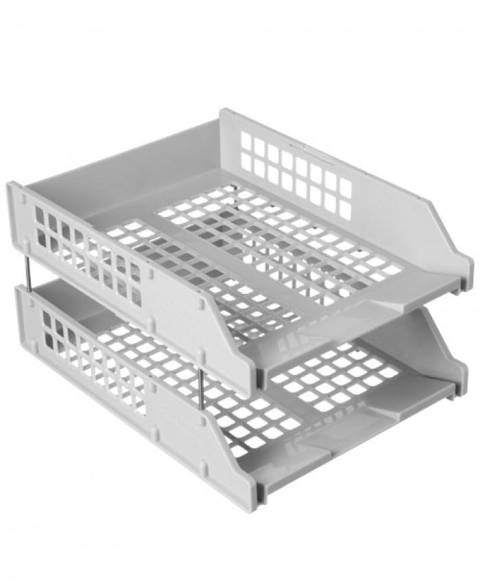 Лотки горизонтальные в наборе из 2-х, серый, СТАММ