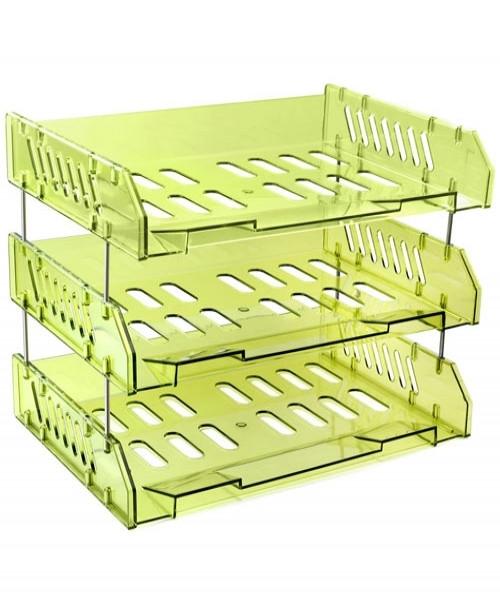 Набор СИТИ из 3-х горизонтальных лотков, зеленый Лайм