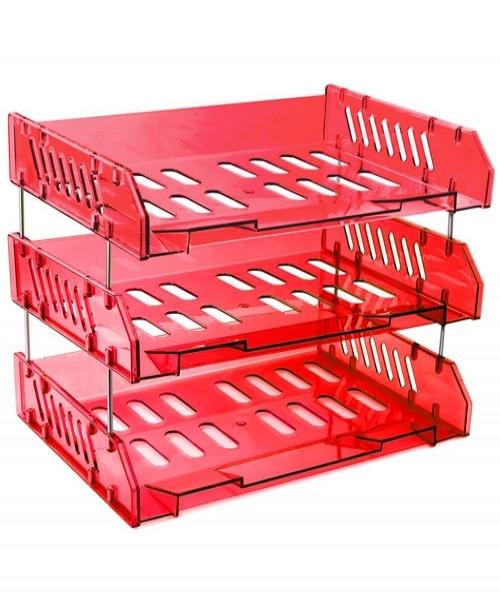 Набор СИТИ из 3-х горизонтальных лотков,темно-красный