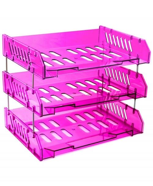 Набор СИТИ из 3-х горизонтальных лотков, фиолетовый Слива