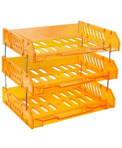 Набор СИТИ из 3-х горизонтальных лотков, оранжевый Манго