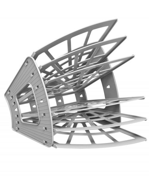 Лоток 6-ми секционный ЭКОНОМ (5 отделений) серый
