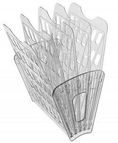 Лоток 5-ти секционный тонированный серый