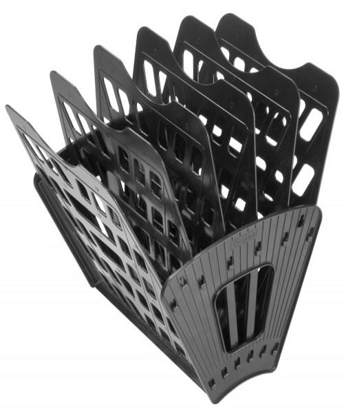 Лоток 6-ти (5 отделений) секционный черный