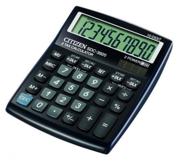 Калькулятор 10 разрядов, 10.8x13.5см, черный Citizen