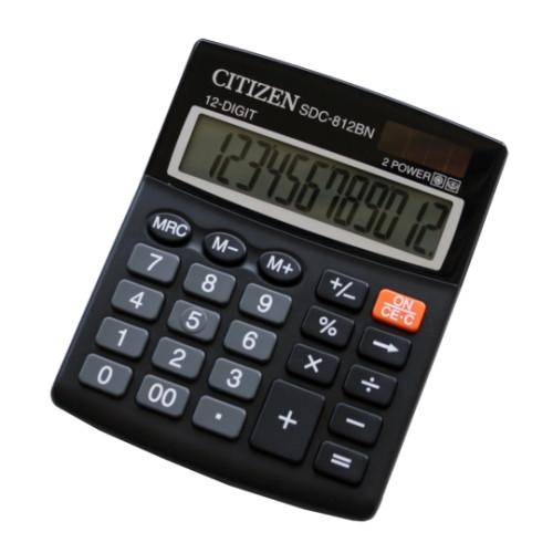 Калькулятор 12 разрядов, 12.4x10.2см, черный Citizen