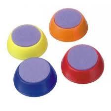 Увлажнитель для пальцев круглый диаметр 40 мм ассорти 4 цвета
