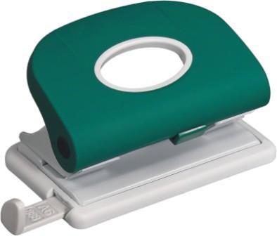 Дырокол на 2отверстия, 1-15л, пластик, зеленый Laco