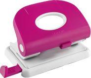 Дырокол на 2отверстия, 1-15л, пластик, розовый Laco