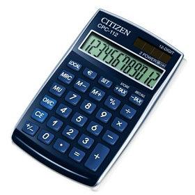 Калькулятор карманный 12 разрядов, 7,2x12 см, синий Citizen