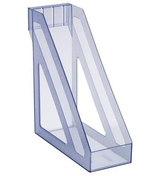 Лоток вертикальный БАЗИС тонированный голубой, СТАММ