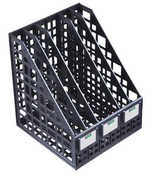 Лоток вертикальный сборный 5 отделений черный, СТАММ