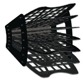 Лоток 7-ми секционный черный веером, СТАММ