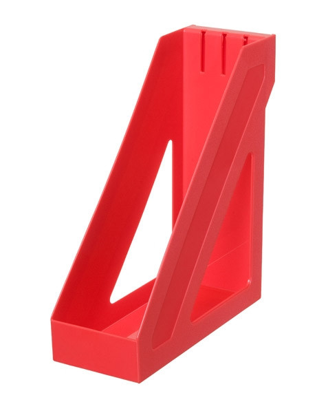 Лоток вертикальный БАЗИС красный, СТАММ