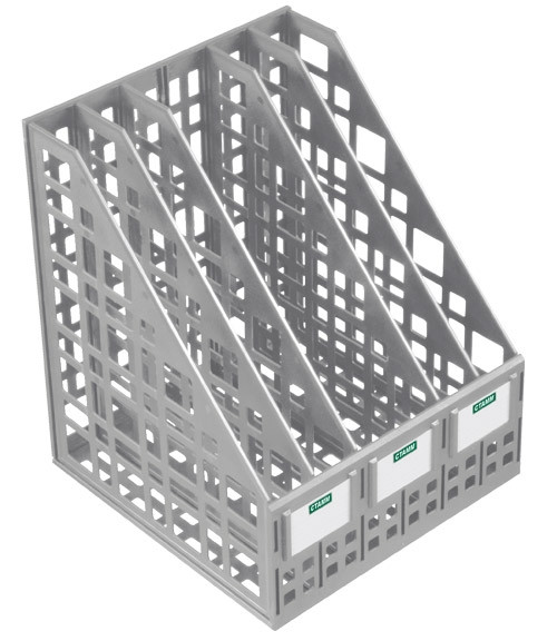 Лоток вертикальный сборный 5 отделений серый, СТАММ
