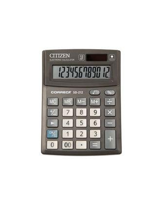 Калькулятор настольный Citizen Correct SD-212 12-разрядный 138x103x24мм, черный