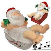 Декорация Дед Мороз купающийся 27х34см  967-48