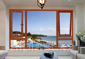 Ламинированные окна ПВХ - Цвет: Орех (металлопластиковые, пластиковые окна)