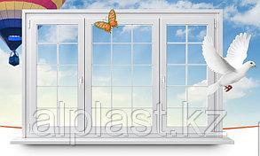 Окна из ПВХ с декоративной раскладкой (металлопластиковые, пластиковые окна)