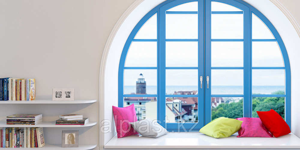 Арочные окна (металлопластиковые, пластиковые, ПВХ) - фото 1
