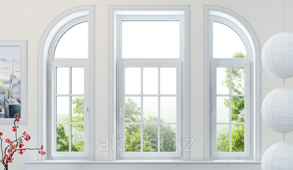 Косоугольные окна (трапецевидные, треугольные) (металлопластиковые, пластиковые, окна ПВХ) - фото 1
