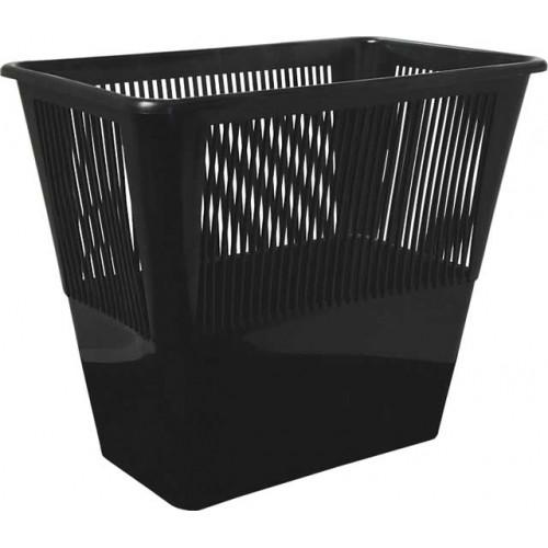 Корзина д/бумаг 12л. прямоугольная черная, СТАММ