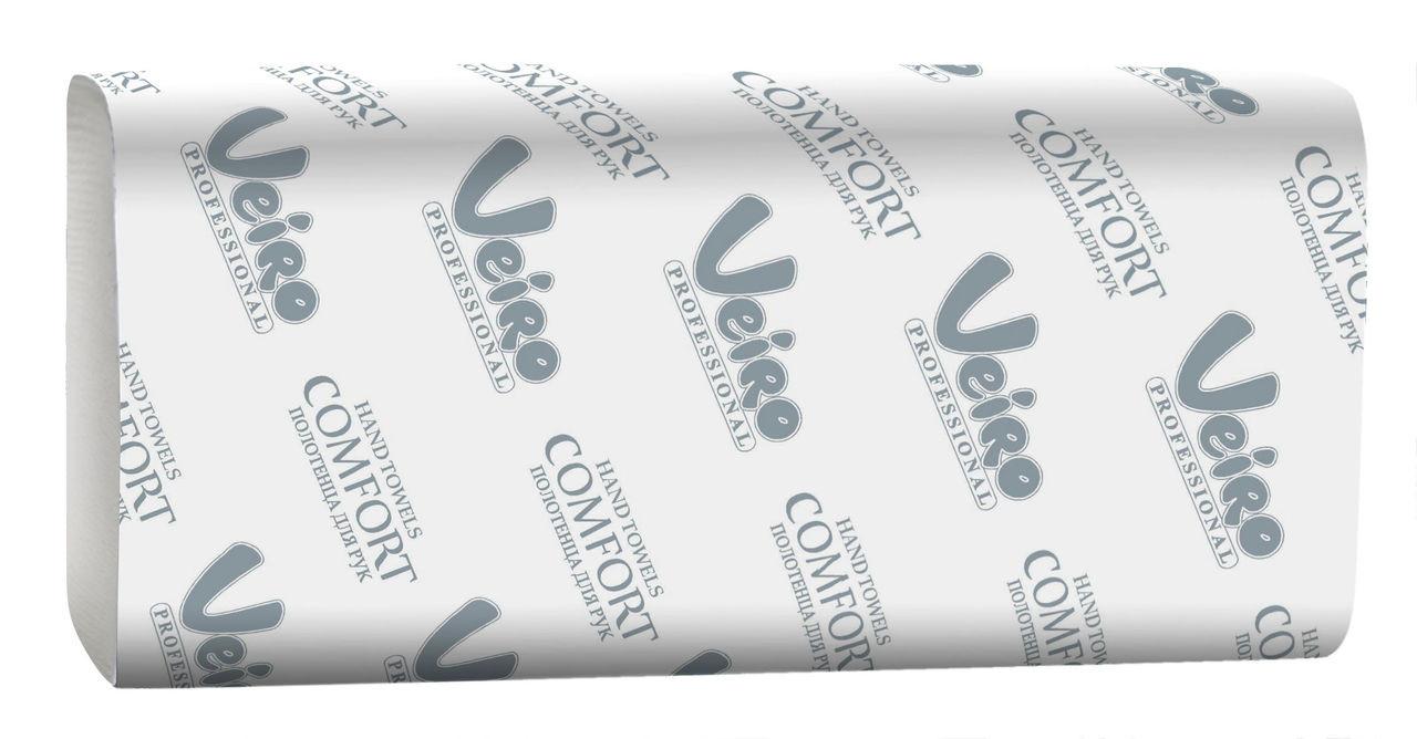 Полотенца для рук W сложения - 21*8 см., 150 л., Veiro Professional Comfort