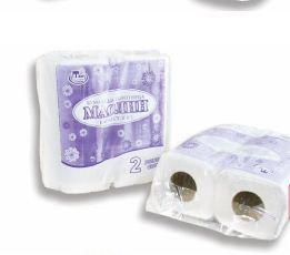 Бумажные полотенца «Маолин», белые, двухслойные, с тиснением, с перфорацией