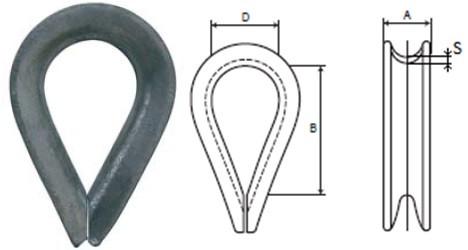 Коуш канатный DIN 6899B