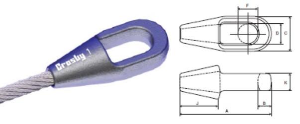 Закрытая оцинкованная муфта стального каната