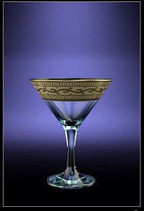 Гусь-Хрустальный Набор 6 бокалов для мартини с рисунком Версаче