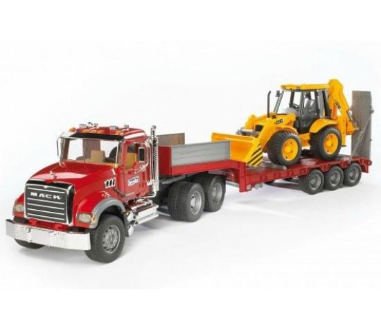 Брудер Тягач Bruder Тягач N MACK Granite Truck с  экскаватором