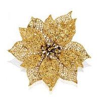 Декор Звезда рожд. золотая пластиков d=17 см