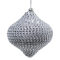Декор Капля со стразами серебр. d10см 3шт/уп KA455908