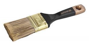 """Кисть плоская STAYER  """"AQUA-KANEKARON"""", искусственная щетина, деревянная ручка, 75мм"""