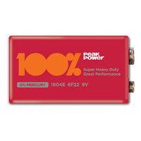 Батарейки 6F22 9V 1 шт 100%