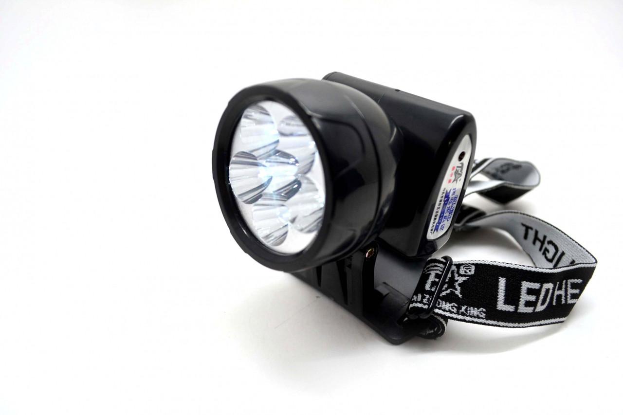 Фонарь  налобный аккумуляторный TX-LED 138  6ламп