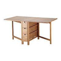 Стол складной НОРДЕН морилка ИКЕА, IKEA , фото 1