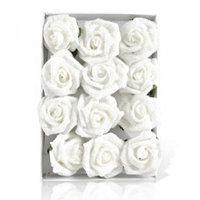 Декор Роза белая с изморозью d4см 12шт/уп KA708363