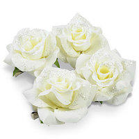 Декор Роза на клипсе перламутров. 7,5см KA629270