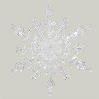 Декор Снежинка из акрила прозрачная d=16см KA522125