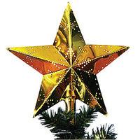 Звезда на елку с лампой 23x23см классик