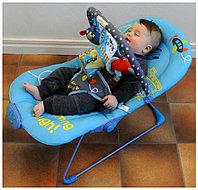Детский шезлонг La-di-da Микки 3 положения спинки, дуга с игрушками