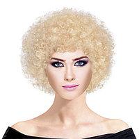 Кудрявый карнавальный парик для тематической вечеринки (белый)