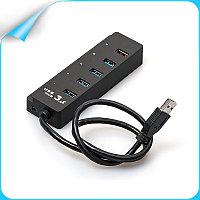 """Концентратор """"HUB USB 3.0,Hi-Speed ,5Gbps,4 Port+Charging USB Port 2.1A, M:CQT-3005"""""""