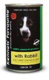 Kennels' Favourite RABBIT консервы для собак, Кролик, 1200г