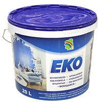 Краска ЕКО 24кг снежнобелая, моющаяся, акриловая для стен и потолков, без запаха