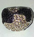 """Кольцо-перстень """"Черный бриллиант"""", фото 4"""